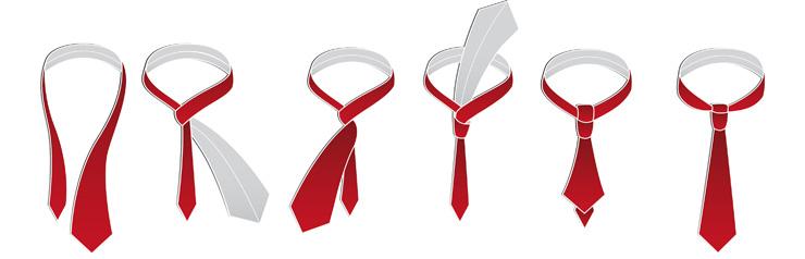 завязать галстук простым узлом