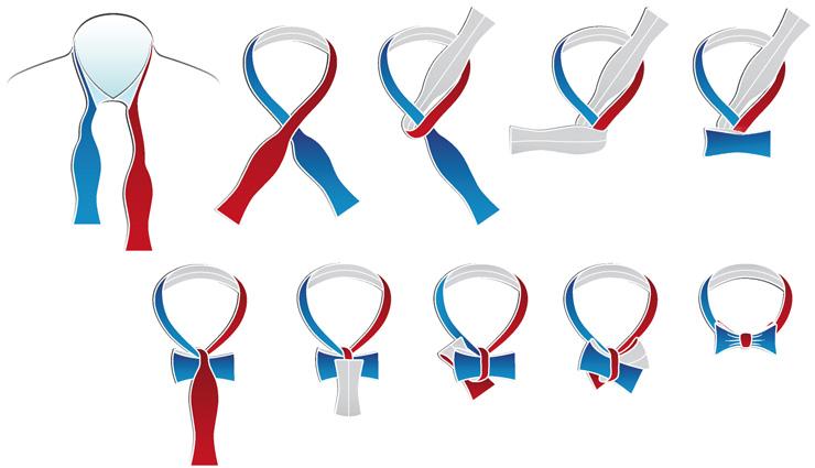 Завязать галстук из ленты своими руками 99